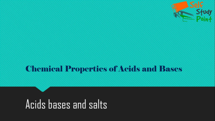 Chemical Properties of Acids and Bases