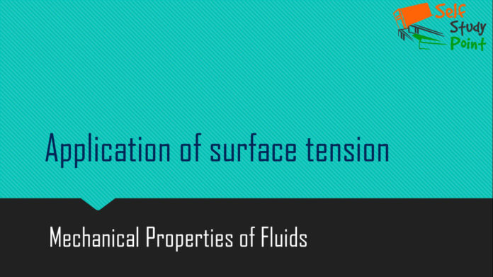 Application of surface tension