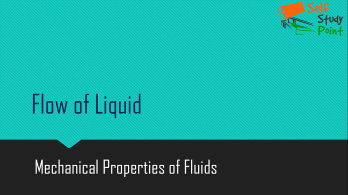 Flow of Liquid