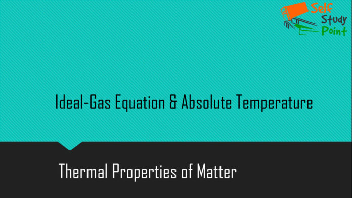 Ideal-Gas Equation and Absolute Temperature
