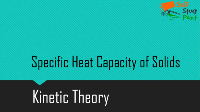 Specific Heat Capacity of Solids