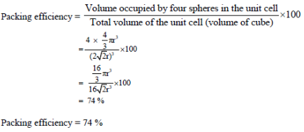 calculation of packing efficiency