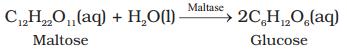 Conversion of maltose into glucose