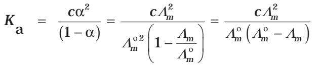 Kohlrausch's Law