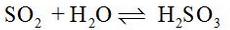 Acidic nature of Sulphur dioxide