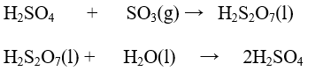 Preparation of concentrated sulphuric acid