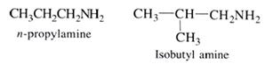 Aliphatic amines