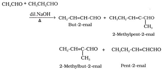 Cross aldol condensation