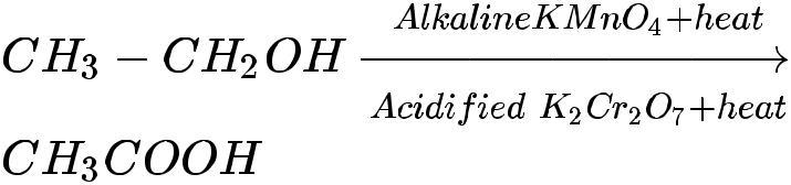 Oxidation reaction of carbon compounds