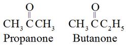 IUPAC name of ketones
