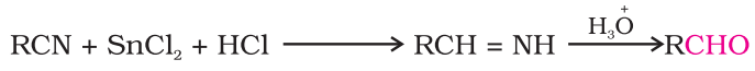 Preparation of Aldehydes From nitriles and esters