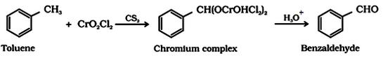 Preparation of Aldehydes By oxidation of methylbenzene