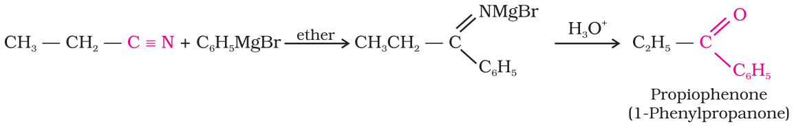 Preparation of Ketones From nitriles
