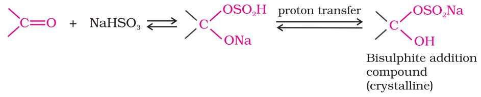 Addition of sodium hydrogensulphite