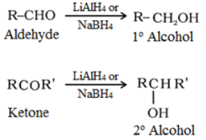 Reduction to alcohols