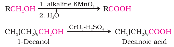 Preparation of Carboxylic Acids From primary alcohols and aldehydes