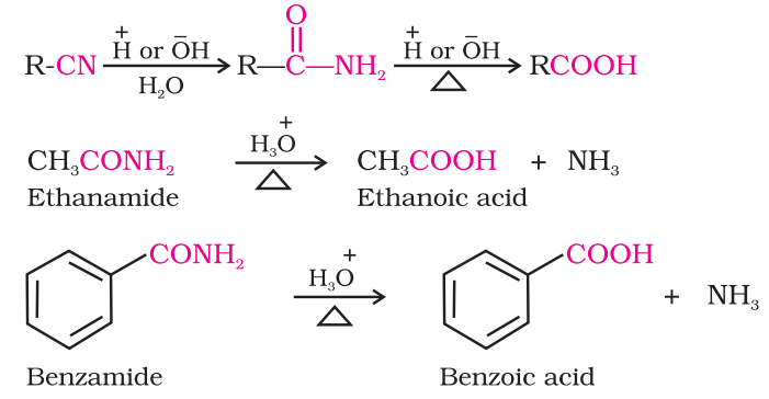 Preparation of Carboxylic Acids From nitriles and amides