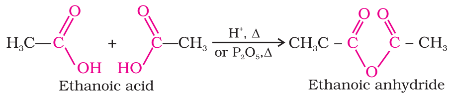 Formation of anhydride