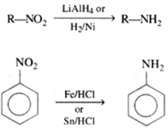 Preparation of Amines By reduction of nitro (RNO2) compounds