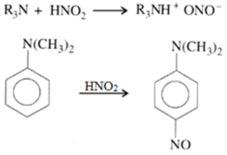 Reaction of 3 amines