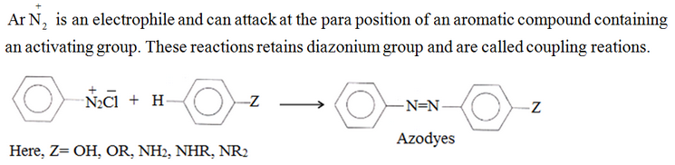 Coupling reactions: