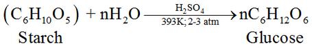 Preparation of Glucose From starch reaction