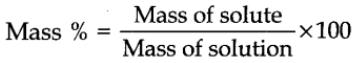 Mass percent or weight percent