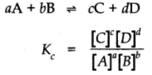 Law of Chemical Equilibrium (Law of Mass Action)