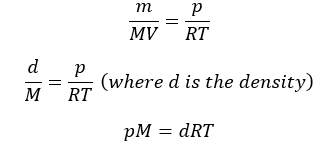 Variation of the Ideal Gas Equation