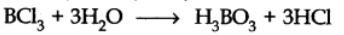 Orthoboric acid (H3BO¬3) or B(OH)3