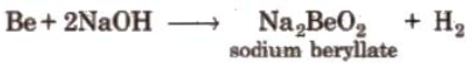 Reaction with alkali