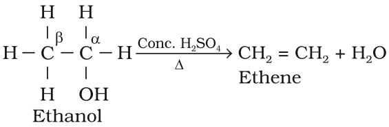 Preparation of Alkene from Alcohols (dehydration)