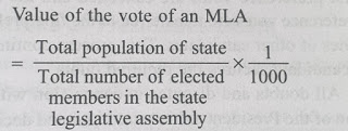 Value of the vote of an MLA